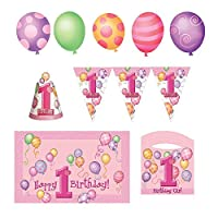 Girl 1st Birthday High Chair Decorating Kit by Unique
