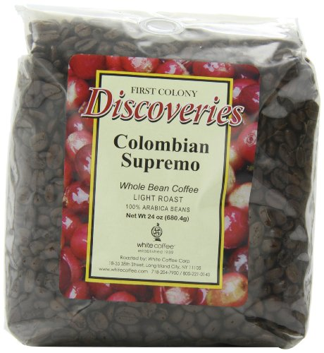First Colony Whole Bean Coffee, Colombian Supremo, 24-Ounce