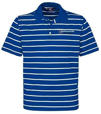 NCAA University of Alabama Huntsville Mens Pebble Texture Golf Polo by Oxford