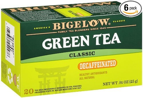 Bigelow Green Tea Naturally Decaffeinated - Kosher For Passover - 20 Tea Bags