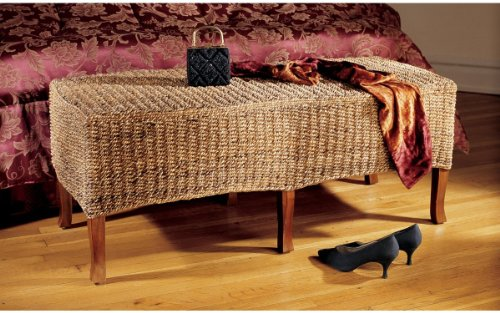 Natural Hand-Carved Antique Replica Bali Coffee Table/Hall Bench