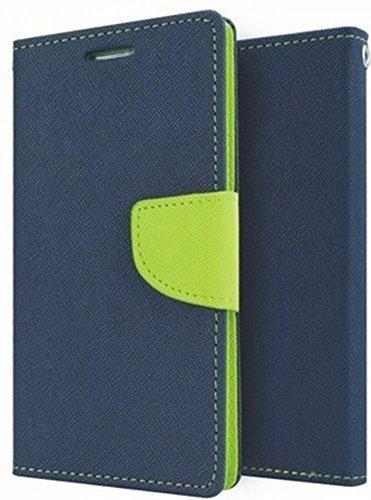 Mintcase Mercury Fancy Diary CARD Wallet Flip Case Back Cover for Micromax Yu Yunique Yu4711 Blue Green