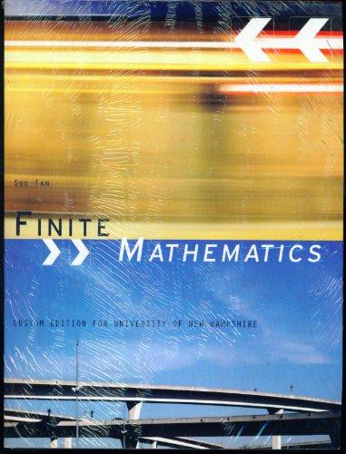 Finite Mathematics Custom Edition for University of New Hampshire