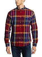 Springfield Camisa Hombre Twill Check (Burdeos)