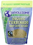 Wholesome Sweeteners Organic Turbinado Raw Cane Sugar, 24-Ounce Pouches (Pack of 12)