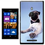 Pug Dog Sitting With Bow Tie On Hard Case Clip On Back Cover For Nokia Lumia 925