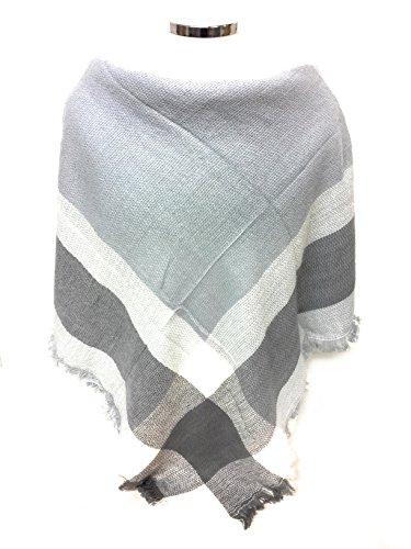 XXL-Damen-Schal-Kariert-bergroer-quadratisch-Deckenschal-Karo-Tartan-Streifen-Plaid-Muster-Oversized-Fransen-Poncho
