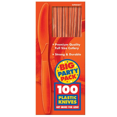Amscan Orange Peel Big Party Pack Knives (100)