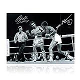 Sugar Ray Leonard And Roberto Duran Signed Boxing Photo: Brawl In Montreal