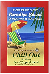 Aloha Island Coffee Company Chill Out, No Worry Decaf, 36-Count Organic Coffee Pods