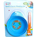 Baby Bowl Spoon Weaning Set Blue
