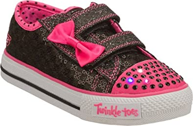 Amazon.com: Skechers Twinkle Toes Shuffles Sweet Steps Girls Light Up