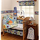 Bedtime Originals Super Sports 4 Piece Baby Crib Bedding Set   Blue