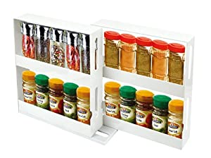 GPCT Swivel Store N More Cabinet Organizer Sliding Space Saver Spice Racks
