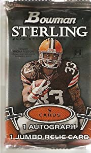 1 (One) Pack of 2012 Bowman Sterling Football Hobby Pack (Hobby Exclusive)