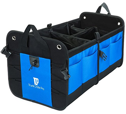 TrunkCratePro TC-PRO01 Multipurpose 11 Pocket Premium Cargo Trunk Organizer for Car, SUV, Truck, Minivan (Mazda 3 Hatchback Cargo Net compare prices)