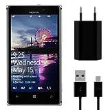 kwmobile Set di ricarica con alimentatore e cavo dati per Nokia Lumia 925 - Nero