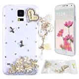 Note 4 Case Galaxy Note 4 N9100 Case Moon mood® 3D Handmade Glitter Crystal Diamond Rhinestones Protector Back Cover Case for Samsung Galaxy Note 4 N9100 57 inches Love Heart Tassel Pendant Butterfly Love Heart