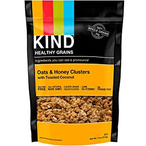 Kind Bar Healthy Grains Clusters: Oats and Honey with Toasted Coconut; Each 11 oz.
