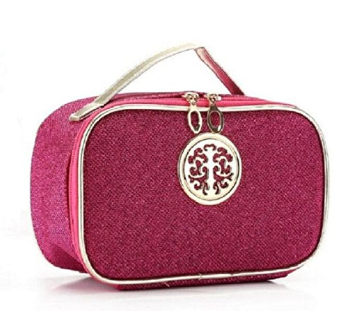 hoyofo-glitter-leather-makeup-bag-travel-toiletry-storage-cosmetic-pouch-for-female-rose-red
