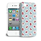 Shabby Chic Florals on Blue Phone Hard Shell Case for Apple iPhone 6 Plus 5S 5C 5 4 iPod & more - Apple iPhone 4/4S