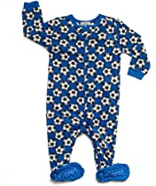 "Leveret Footed Fleece ""Balls"" Pajama (2 Toddler)"