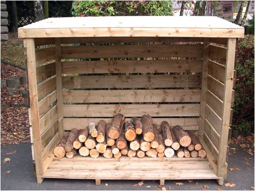 Large Wooden Log Store - 6' x 3' Made with FSC Timber guaranteed  to last for 15 years