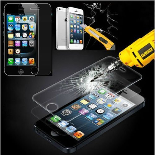 TooSell Premium Tempered Glass Screen Protector for iPhone 5s, iPhone 5, iPhone 5c (iPhone 5s/5c/5)