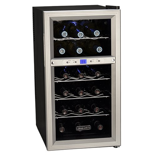 Fantastic Deal! Koldfront 18 Bottle Dual Zone Thermoelectric Wine Cooler - Silver/Black