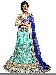 Silvermoon women's Net Embroidered heavy lehenga choli-sm_MIRNA99_Turquiose_free size