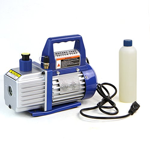 XtremepowerUS 1/4 HP Single Stage Rotary Vane Vacuum Pump 3 CFM Air Conditioner Refrigeration HVAC Air AC A/C R410a R134 (3 CFM) (Rotary Vane Vacuum Pump Oil compare prices)