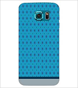 PrintDhaba Circular Pattern D-1518 Back Case Cover for SAMSUNG GALAXY S6 (Multi-Coloured)