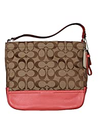 Coach Park Signature Fabric With Leater Trim Mini Duffle Cross-body Bag In Khaki Tearose 49158