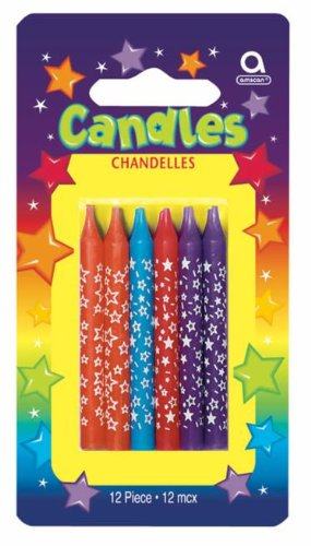 Neon Star Candles Party Accessory