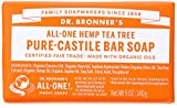 Dr. Bronner's Magic Soaps Pure-Castile Soap, Hemp Tea Tree, 6 Count
