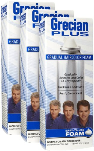 Grecian Formula Gradual Hair Color Foam, 3 pk by Grecian Formula