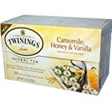 Twinings, Herbal Tea, Camomile, Honey & Vanilla, Naturally Caffeine Free, 20 Tea Bags, 1.13 oz (32 g)