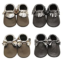 Mejale Baby Soft Soled Leather Moccasins Tassel Slip-on Infant Toddler Shoes Pre-walker(brown,18-24 months)