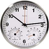 Hama CWA200, Plata, Blanco, Mignon AA, 312 g, 150 mm, 150 mm, 38 mm - Reloj de pared