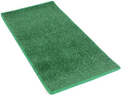 "HEAVY TURF (15.5 Oz.) - Artificial Grass Carpet Indoor / Outdoor Area Rug. 5/16"" Thick, Premium Nylon Fabric BOUND EDGES .UV-Protected - weather and Fade-resistant ,100% UV olefin. MANY SIZES and Shapes. Rectangles, Squares, Circles, Half Rounds, Ovals, a"