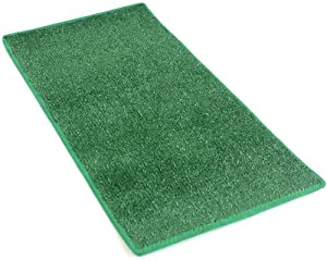 "6'x8' - GREEN ""HEAVY TURF"" - 5/16"" Thick - 15.5 oz. Artificial Grass Carpet Indoor / Outdoor Area Rug. Premium Nylon Fabric FINISHED EDGES .UV-Protected - weather and Fade-resistant ,100% UV olefin. MANY SIZES and Shapes. Rectangles, Squares, Circles, Half Rounds, Ovals, and Runners."