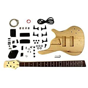 5 string bass guitar kit diy project with ash body musical instruments. Black Bedroom Furniture Sets. Home Design Ideas