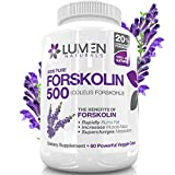 "Forskolin 500mg 20% Standardized - Get the ""Insta Belly Melt"" - FREE BONUS Weight Loss eBook ($35 Value) - 100% Natural, Clinically Proven Dietary Supplement to Rapidly Burn Visceral Fat Leaving Lean Muscle Behind - Pure Coleus Forskohlii Root Extract Melts Fat & Supercharges Metabolism - Order Risk Free With Lumen Naturals"