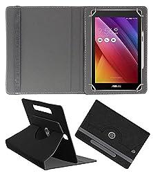 Acm Designer Rotating Case For Asus Zenpad C 7.0 Z170mg Stand Cover Black