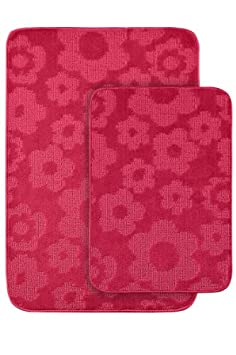 Popular Garland Rug Flower Piece Bath Rug Set Pink