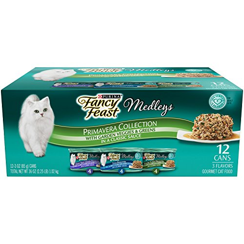Purina Fancy Feast Wet Cat Food, Elegant Medleys, Primavera Collection with Garden Veggie and Greens, 3-Ounce Can, Pack of 24 (Fancy Feast Meat compare prices)