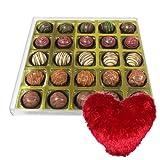 Pretty Good Truffle Gift Box With Heart Pillow - Chocholik Belgium Chocolates