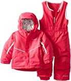 Columbia Kids Buga Bib and Jacket Set, Bright Rose, 2T