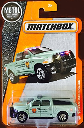 DODGE RAM 1500 POLICE MBX HEROIC RESCUE 2016 Matchbox Basic Car 1:64 Scale Series Collector #61 of 125 (Police Cars Matchbox compare prices)