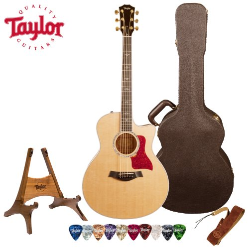 Taylor Guitars 616Ce With Deluxe Brown Taylor Hardshell Case And Taylor Pick, Strap, And Stand Bundle